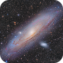 M31 Andromeda Galaxy, M32 and M110 Galaxies in L(R+HA)GB,                                Kayron Mercieca