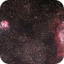 Messier 8, 20, 21 or  M8, M20 & M21 or Lagoon Nebula & Trifid Nebula,                                Stephen Harris
