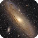 The Great Andromeda Galaxy, Messier 31 with Messier 32 and Messier 110,                                Madratter