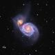 Messier 51 en LHaRVB zoom & new process,                                Georges