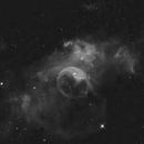 bubble nebula,                                oversky
