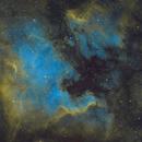 NGC 7000 SHO, Totally reprocessed, Old version removed,                                Erik Guneriussen