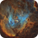 IC2944 - Bok Globules in Running Chicken Nebula in SHO,                                Ariel Cappelletti