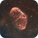 Crescent Nebula (NGC 6888) Captured with Ha and OIII,                                Chuck's Astrophotography