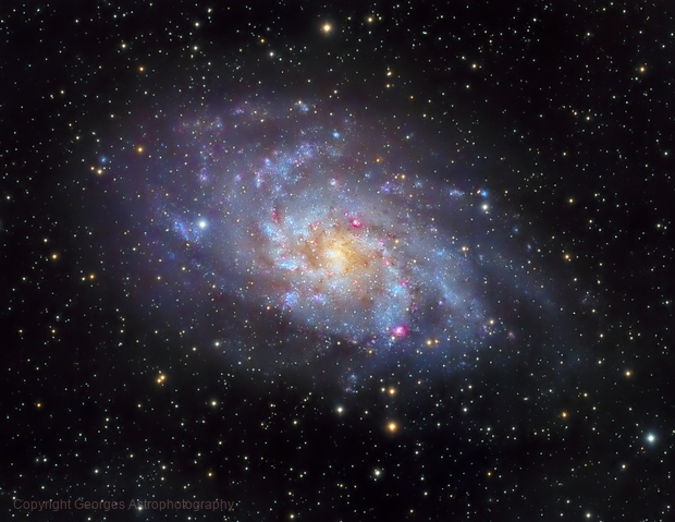 Messier 33 in LHaRVB,                                Georges