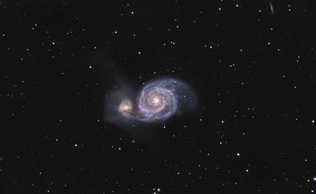 M51 L-HaRGB,                                Adrian Criss