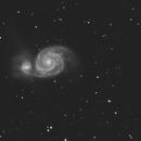 M51 avec CLS ccd,                                quercus