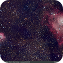 Lagoon and Trifida nebulae,                                Marco Gulino