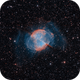 The Dumbbell Nebula in HOO (Messier 27),                                Alex Roberts