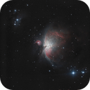 """M42 - 1st """"long"""" exposure with 1st telescope, an old image reprocessed,                                ZlochTeamAstro"""