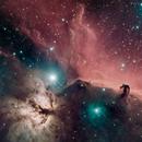 The Horse Head and Flame Nebula HaRGB,                                Nick Harrington