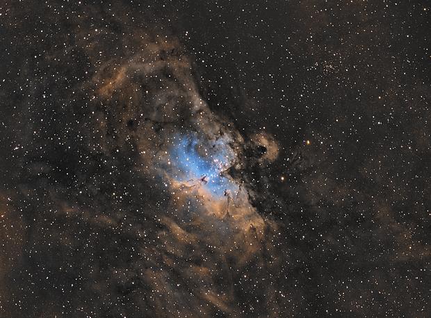 M16 - Eagle Nebula in SHO,                                nerdybeardo