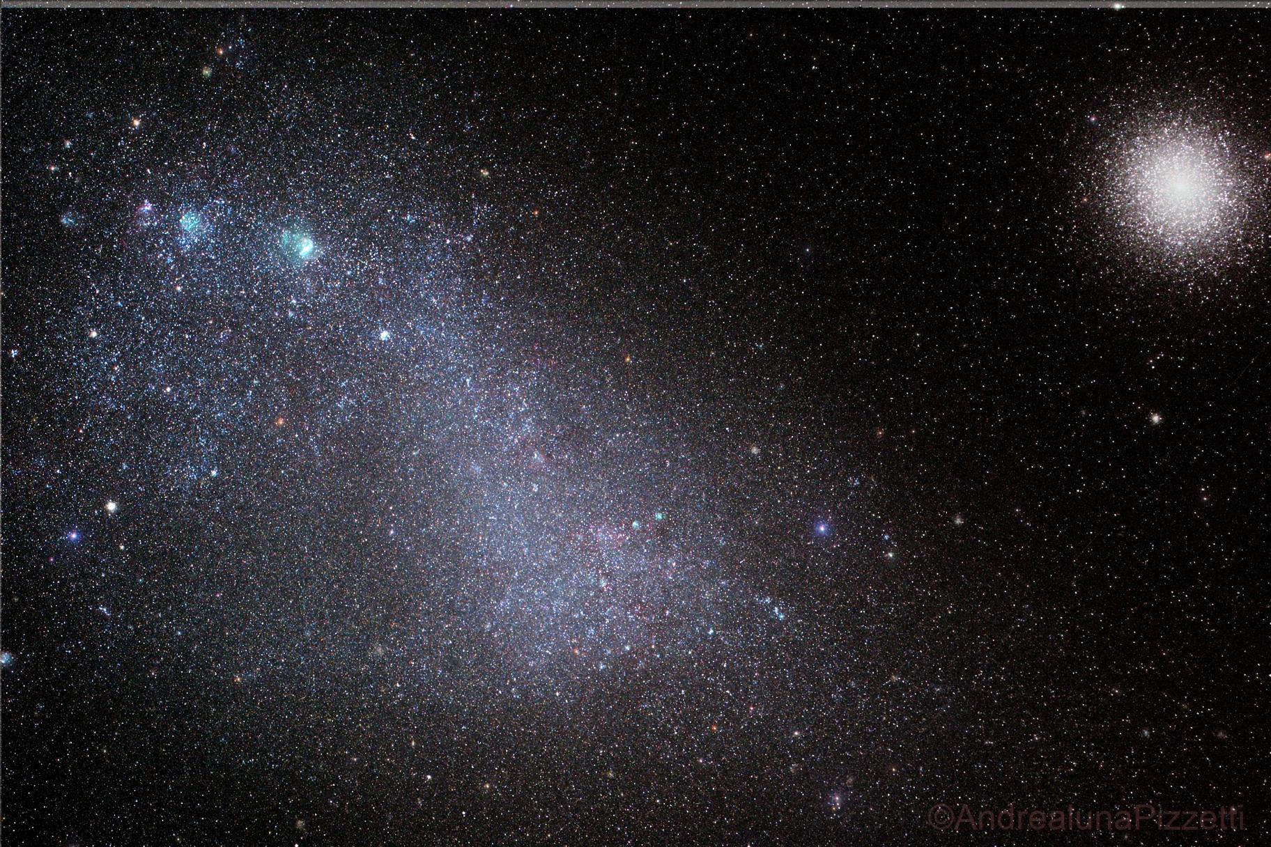 Small Magellanic Cloud and 47 Tucanae,                                andrealuna