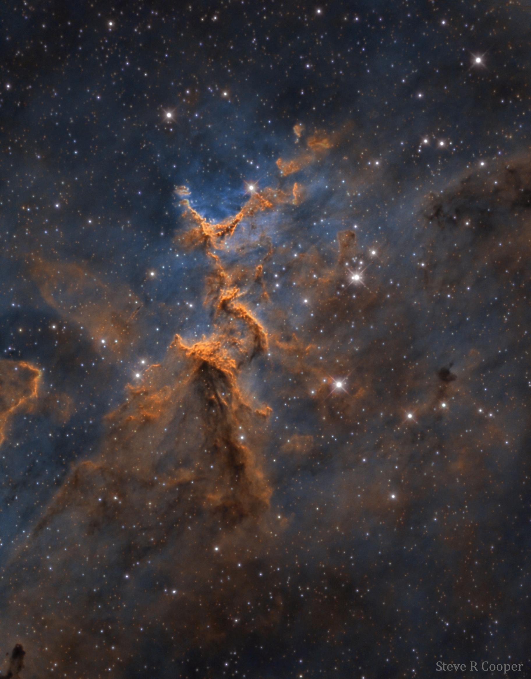 Melotte 15 in the Heart Nebula,                                Steve Cooper