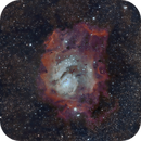 Lagoon nebula from Bortle 9 with STC Multispectra ( just 14 seconds subs ),                                Luis Marco Gutierrez