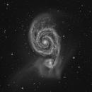 M51 in Black & White,                                KuriousGeorge
