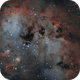IC410 Tadpole Nebula in Narrowband Bicolour Palette,                                Kayron Mercieca