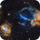 Lobster Claw & Bubble Nebulae (Sh2-157, NGC 7635),                                dswtan