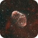 Crescent Nebula (NGC 6888) HOO narrowband bicolor - reprocessed,                                HaSeSky