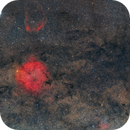 Most of Cygnus OB7, IC1396 and their dusty and glowing friends,                                iro