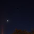 Aldebaran / Mond / Venus / M45 (2015-04-21),                                Sylvio Müller