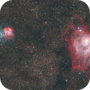 M8 Lagoon and M20 Trifid,                                Seldom