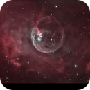 HOO zoom of the Bubble nebula taken at the Astroqueyras observatory,                                Andreas Zeinert