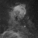Gabriela Mistral nebula (NGC 3324) in h-alpha,                                Leonel Padron