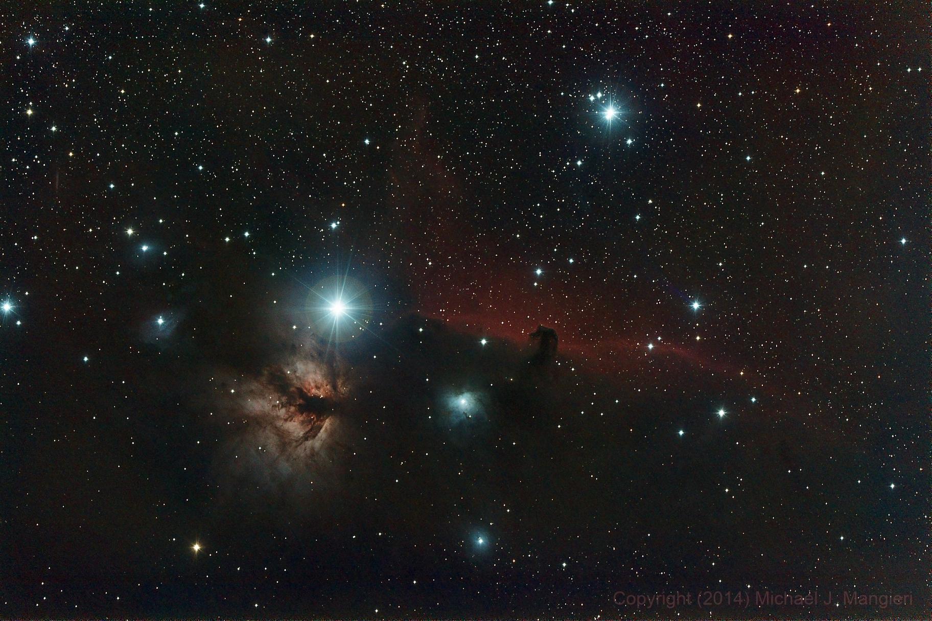 Horsehead and Flame Nebula,                                Michael J. Mangieri
