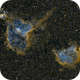 Heart & Soul Nebulae (Mosaic) in HST* Palette,                                Kirk