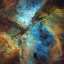 Eta Carina Nebula - Hubble Palette,                                Eric Coles (coles44)