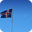 Moon with the Flag of Iceland,                                Antonio.Spinoza