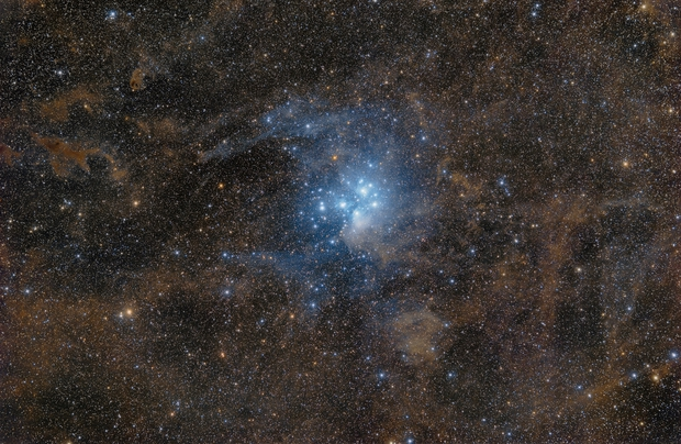 M45 and  part of the massive Molecular Cloud in  Taurus,                                Peter Shah