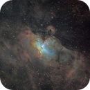 M16 hubble palette, another try with better seeing,                                Станция Албирео