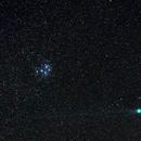 Comet Lovejoy and Pleiades,                                AC1000
