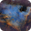 NGC 7000 in narrowband - SHO (Hubble palette),                                oystein