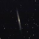 NGC 5907,                                white-sky