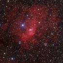 NGC7635 - Bubble nebula complex in Cassiopeia,                                Stellario