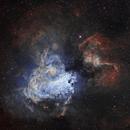 M17/NGC 6618 Omega Nebula SHO,                                johnnywang