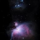 Orion nebula and  running man nebula,                                Simon Klimecek