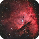 NGC 281 the so called Pack man Nebula,                                Darkestskiesdotcom