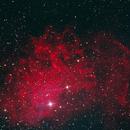The Flaming Star Nebula in L(R+Ha)GB,                                Eric Solís
