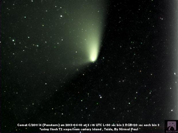 Comet C/2011 L4 (Panstarrs),                                nirmalpaul