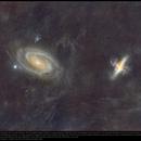 Galaxies M81 & M82 in Ursa Major with Integrated Flux,                                Andre van Zegveld