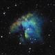 Pacman nebula in SHO,                                tinysmall