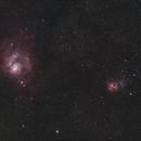 Trifid & Lagoon Nebulas,                                apothegary