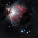 M42 la nébuleuse d'Orion,                                Paflapente