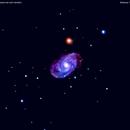 ngc5371 galassia nei cani venatici                                              distanza   120 milioni  A.L.,                                Carlo Colombo