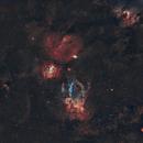 Sh2-157 Lobster Claw Nebula 20210611 18100s SHO 01.3.4,                                Allan Alaoui