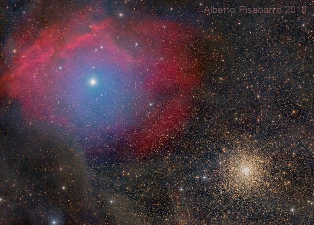 Sh2-9 and Globular Cluster M4,                                Alberto Pisabarro